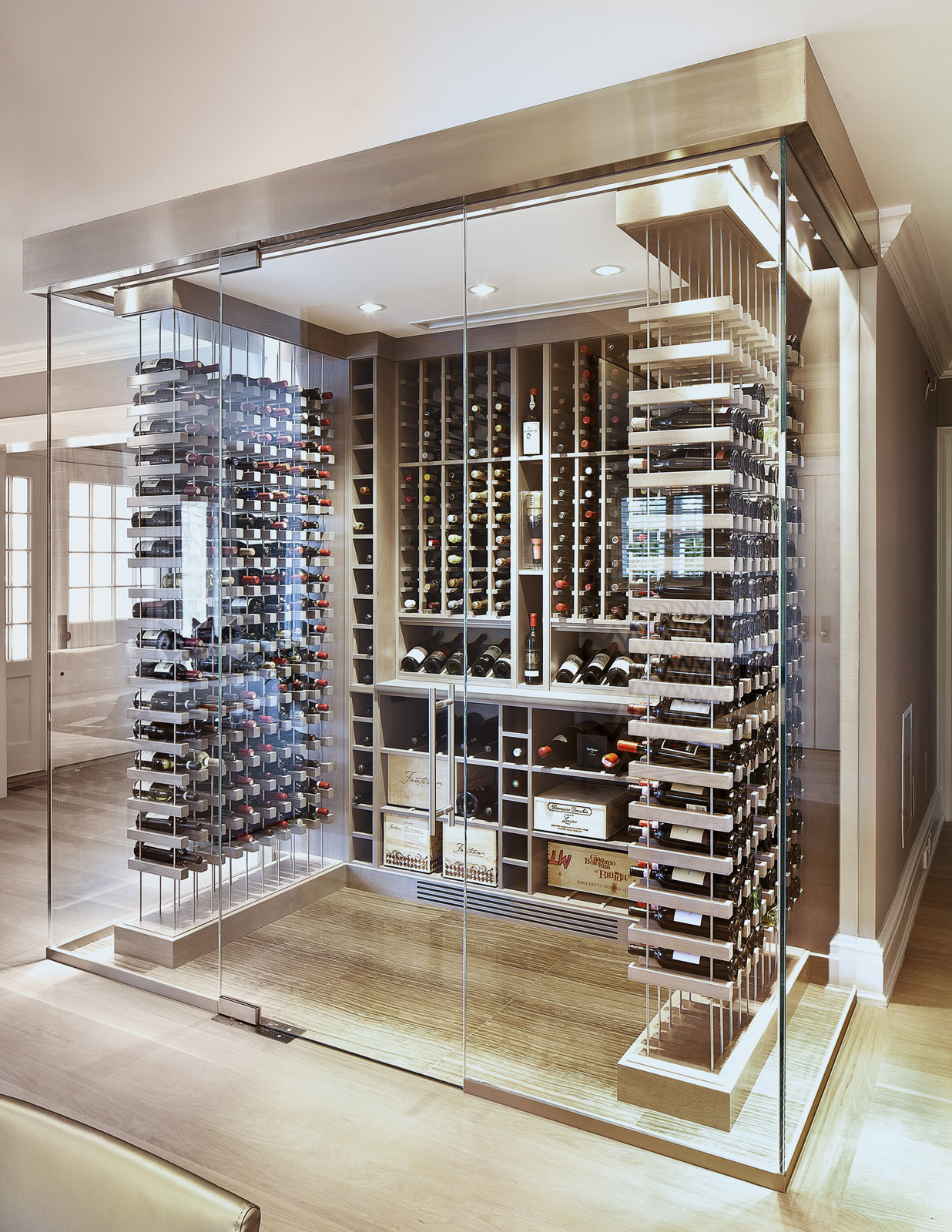 Glass Wine Cellar Soper Babcock Amp Associates
